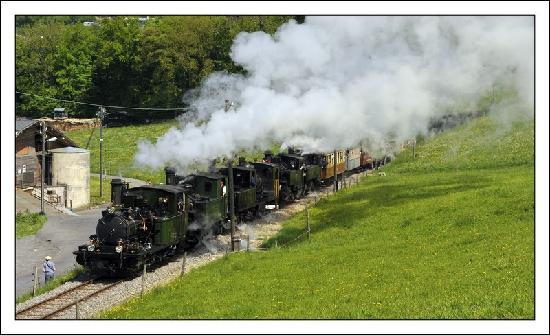 Railway Museum Blonay-Chamby : 6 vapeurs en tractions
