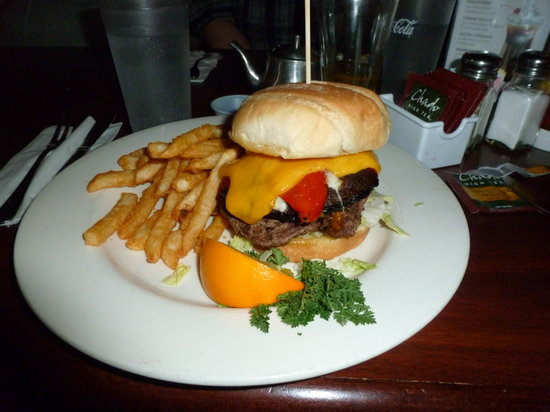 Fireside Grill: Portobello Mushroom Burger with Hamburger
