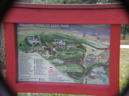 Eden Park : Park map