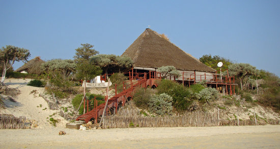 Ifaty, Madagaskar: view of the restaurant