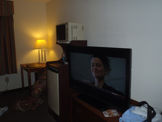Best Western Plus Roswell/Alpharetta: tv and outdated microwave