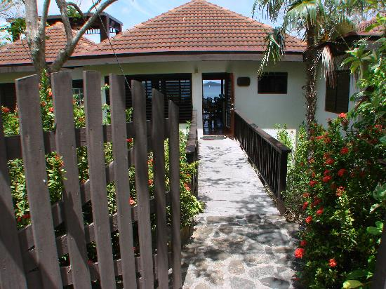You can see the Caribbean Sea even before you enter the door of Villa del Sole Video tour link h