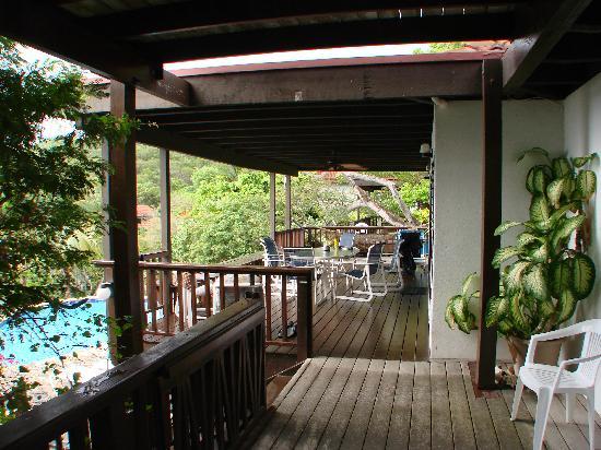 Large decks surround Villa del Sole Video tour link