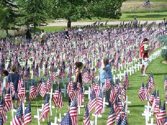 Orem Cemetary Memorial Day Flags