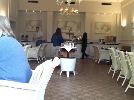 Hotel Montanus: the breakfast room