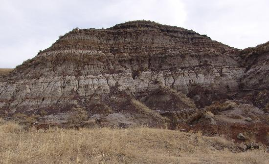 Royal Tyrrell Museum of Palaeontology : Layers in the badlands