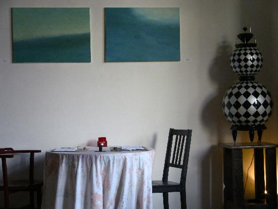 Brody House: There is art on the walls in every room; I took this in the main public room.