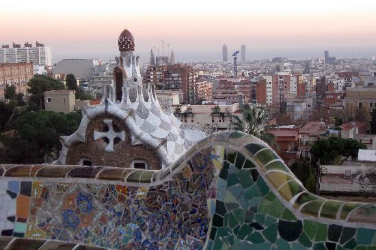 The famous view at Parc Guell: maravilloso!