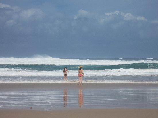 Surfer's Paradise Beach: me and my cousin