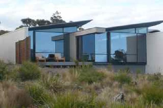 Saffire Freycinet: Our suite (one of the largest), with bedroom to left and lounge at right