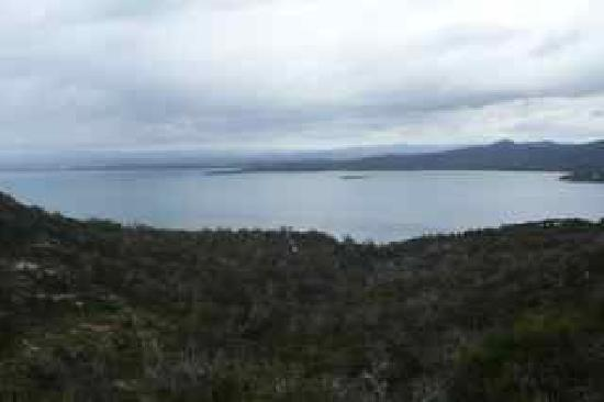 Saffire Freycinet: From the Wineglass Bay walk, over the bay to Saffire
