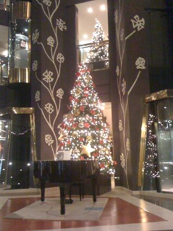 Hotel Plaza Andorra: The Christmas tree at lobby