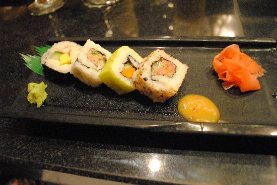 Dreams Palm Beach Punta Cana: Fantastic Sushi at the Hibachi Restaurant