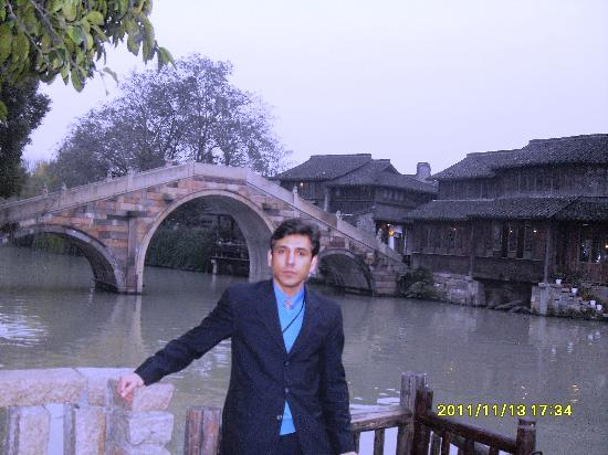 Tongxiang, China: Bujaffer in Wuzhen Water Town