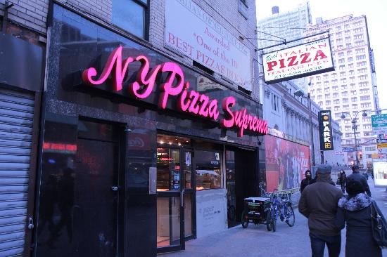 Ny Suprema Pizzaria Near Madison Square Garden Picture Of Pizza Suprema New York City