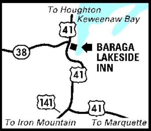Baraga Lakeside Inn: Regional Map