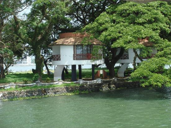 View of the Bolgatty Resort from the sea