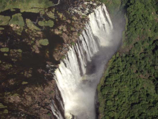 The Villa Victoria: The mighty falls from a helicopter