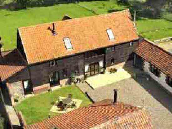 Aerial View of Bluebell Barn