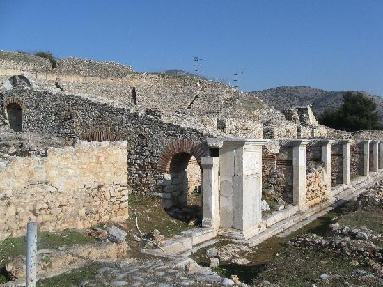 Filippi Archaeological Site: Building beside the ancient Egnatia road