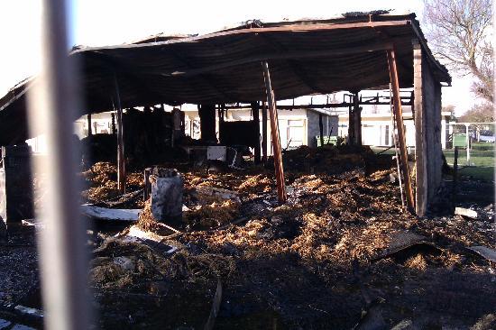 Pontins Brean Sands Holiday Park: Destroyed apartments