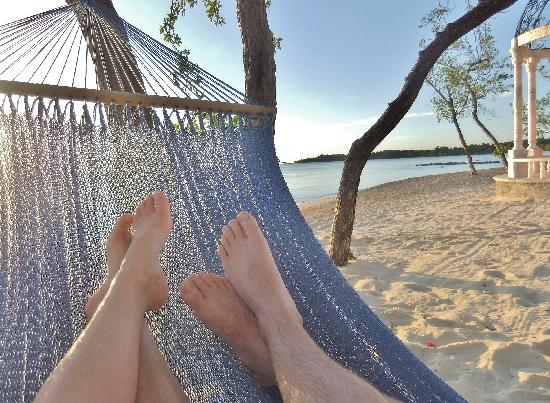 Find one of the hammocks for a great view of sunset!