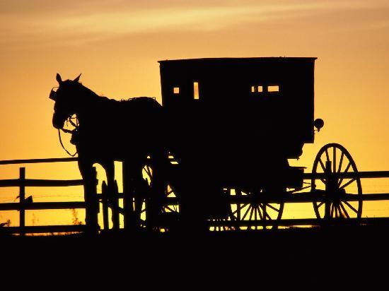 Lancaster County, PA: Típico perfil del Amish country al caer la noche
