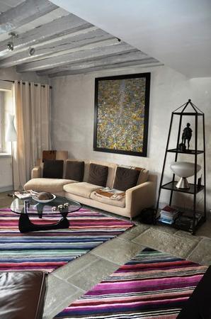 Chambres d'hotes Maxana : Le confortable salon vous accueille pour vos moments de détente et de convivialité.