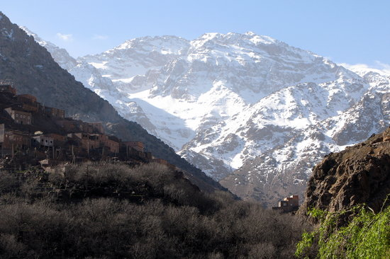 Marrakech-Tensift-El Haouz Region, Maroko: toubkal atlas mountains