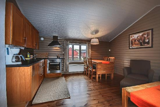 Eliassen Rorbuer: Example kitchen in big cabin
