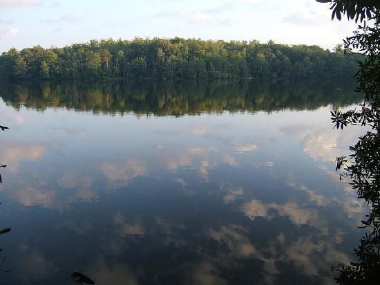 Julian Price Park Campground: Price Lake from edge of campsite
