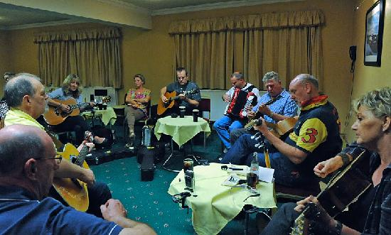 Adair Arms Hotel: A music session in full flight