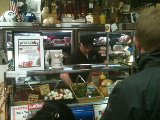 Vitos Deli: Front counter full of goodies!
