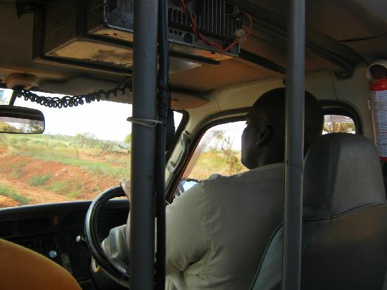 Safari Talk Day Tours: Archy, our tour guide, driving and teaching along the way!