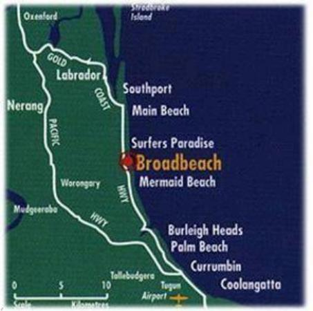 Oceana on Broadbeach: Map