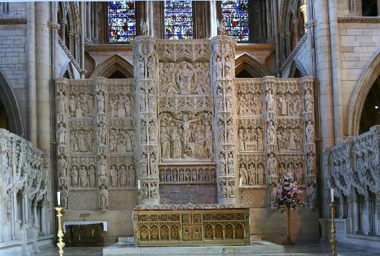 Truro, UK: The altar screen