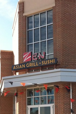 Zen Asian Grill and Sushi: Captivating Architecture inside and outside
