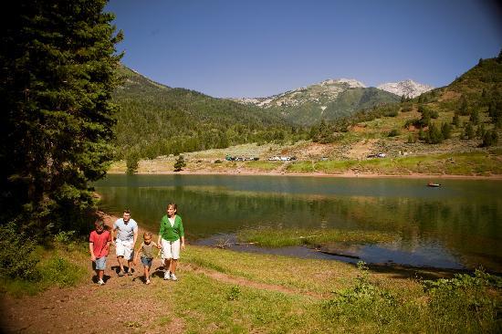 Tibble Fork Reservoir in American Fork Canyon
