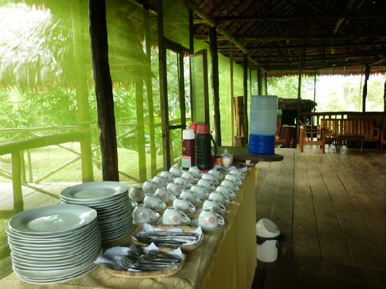 Amazon Reise Eco Lodge: Restaurante en el Lodge