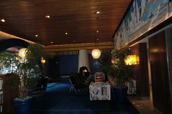 The Maritime Hotel: Lobby with Fireplace