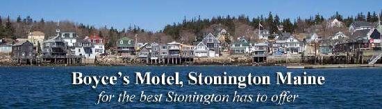 Boyce s Motel: Stonington from the water