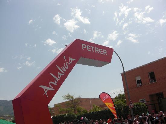 Petrer Castle: Petrel fue inicio de la 3ª etapa de la Vuelta a España en 2011