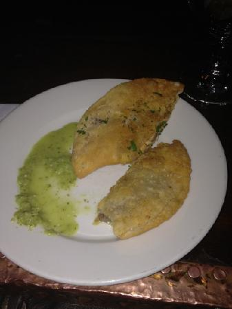 Foods of New York Tours: empanadas at Cuba