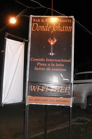 Chez Johann : The restaurant sign