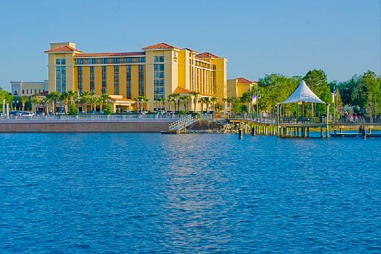 view of the lake picture of embassy suites by hilton. Black Bedroom Furniture Sets. Home Design Ideas