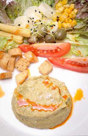 Restaurante La Vega: Ensalada de Humus