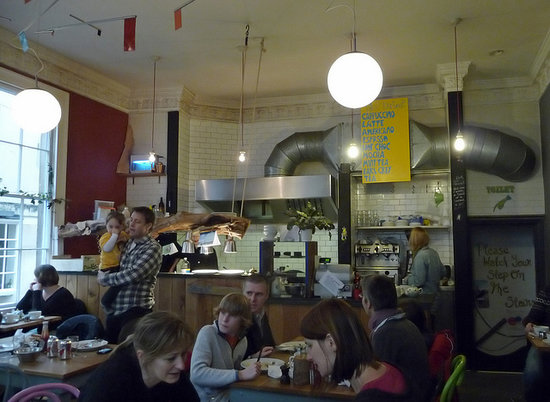 The interior of the Wild Cafe