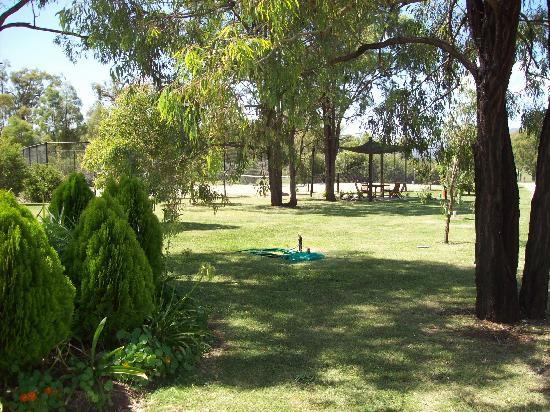 Starline Alpacas Farmstay Resort: Gardens, tennis court