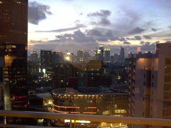 Aston Rasuna: night view from living room