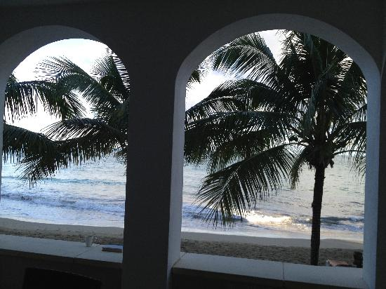 Beach Palace Cabarete: morning view while drinking coffee